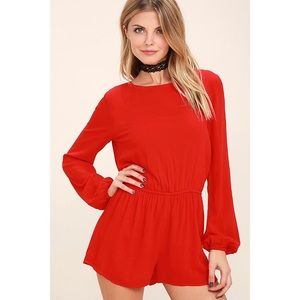 Lulu's Greatest Hits Red Backless Romper